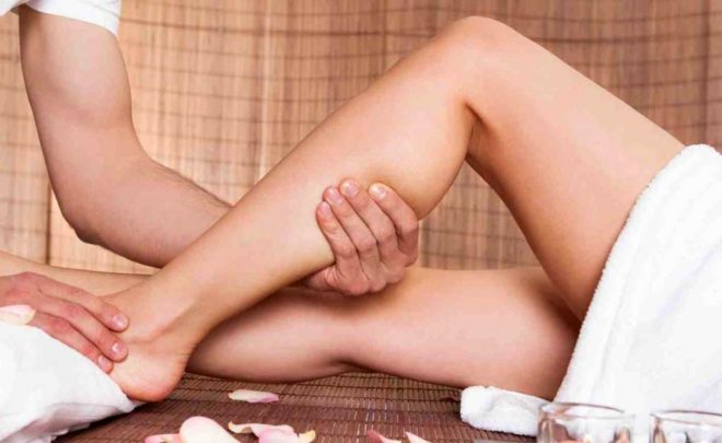 Глубокий массаж ног