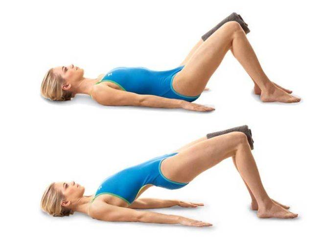 Упражнение с подушкой