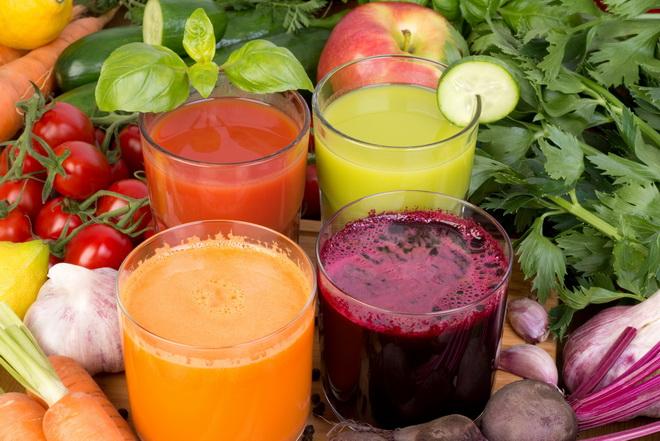 Овощные свежевыжатые соки