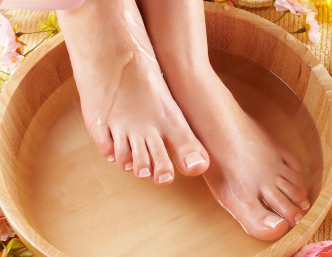 Уксусная ванночка для ног
