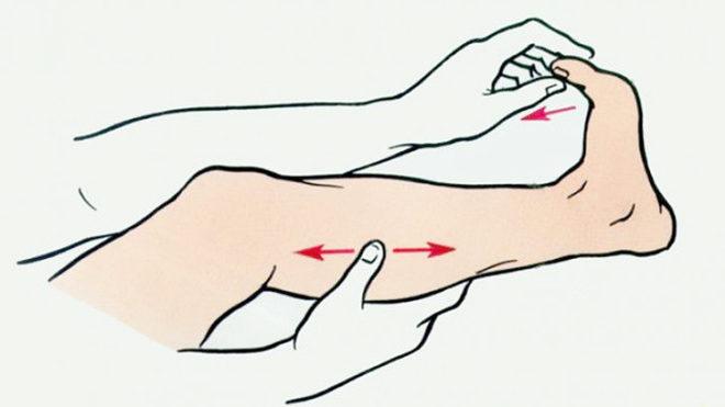 Первая помощь при судороге ног