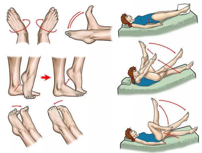 Упражнения против отеков ног