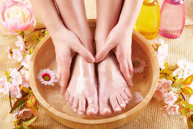 Ванночка для ног против отеков