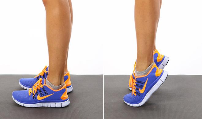 Подъем на носки против отеков ног