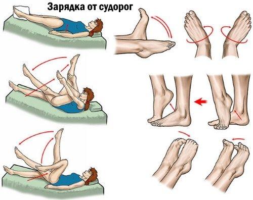 Упражнения против судорог ног